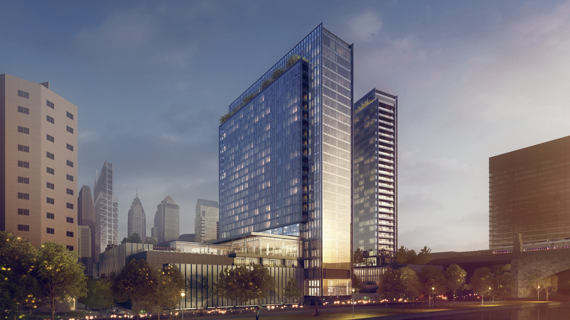 Rendering of proposed building