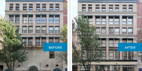 908 Penn Ave before and after renovation