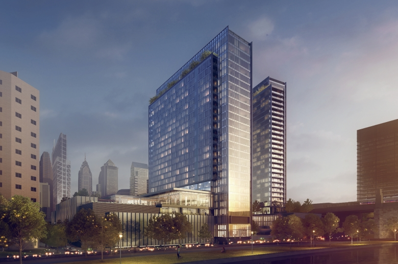 Rendering of proposed building at Riverwalk