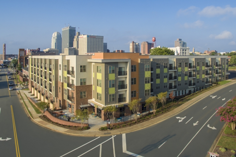 757 North Apartments angled exterior view