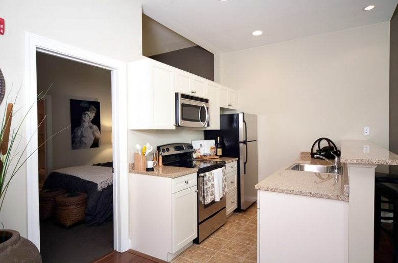 1201 N Charles open concept kitchen