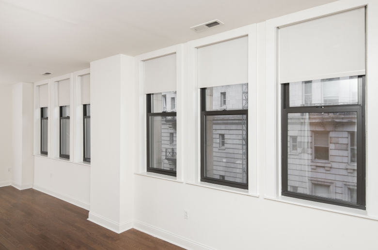 Expansive dining room windows