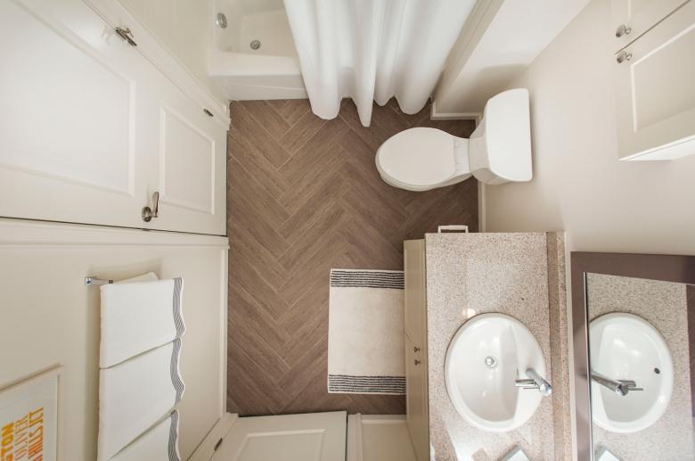 Modern updated bathroom