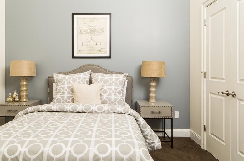 Bedroom with abundant storage