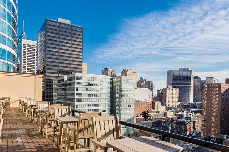 South resident roof deck