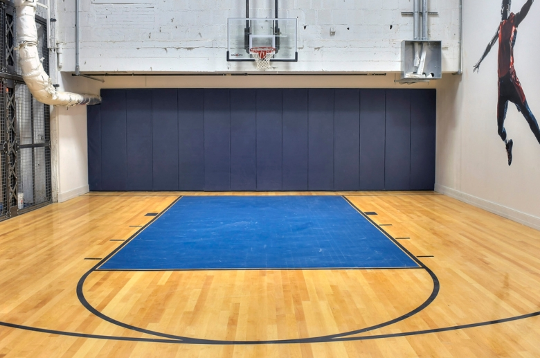 The Residences at The R. J. Reynolds Building indoor basketball