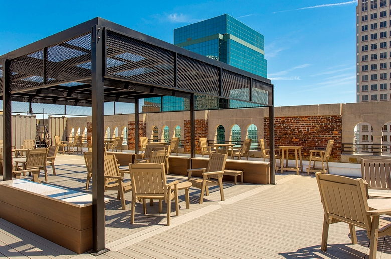 Fully furnished resident roof deck