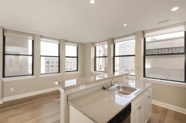Expansive windows with abundant natural light