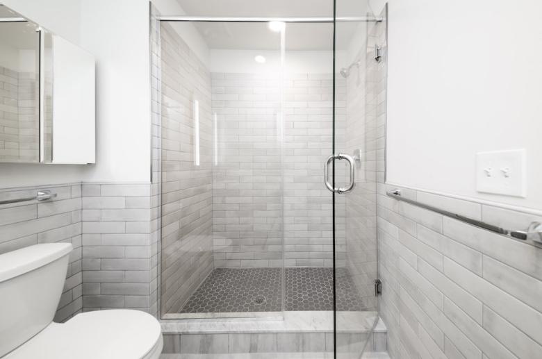 Modern spa style bathroom