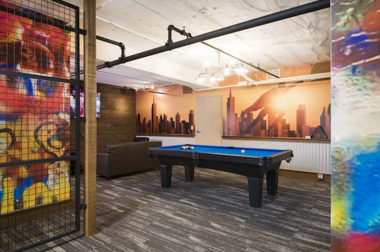 Resident lounge with billiard