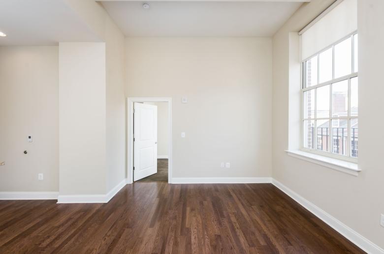 Gleaming hardwood flooring