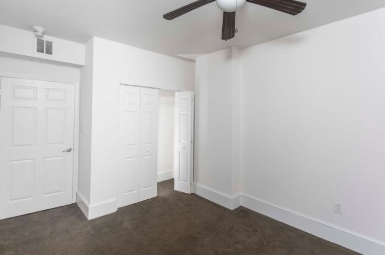 Generous closet space