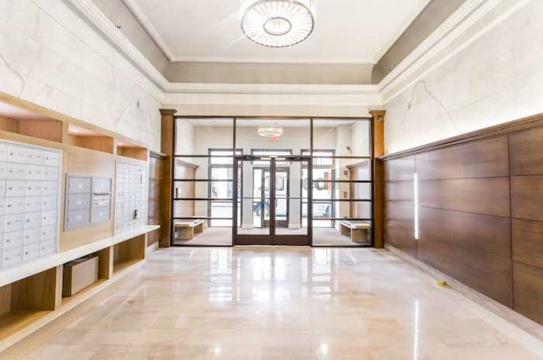 Resident lobby and mailboxes