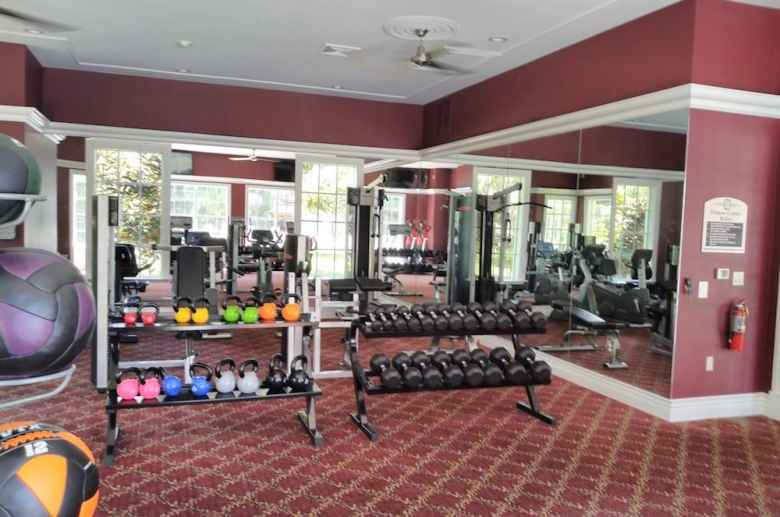 Equipped fitness center