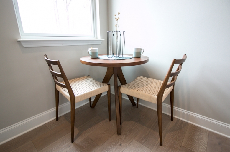 Dinning area with natural lighting