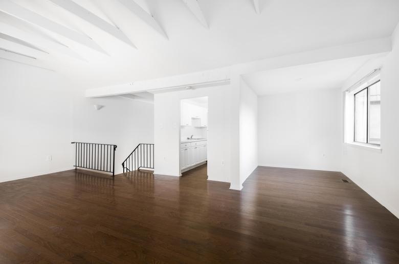 Gleaming hardwood floors