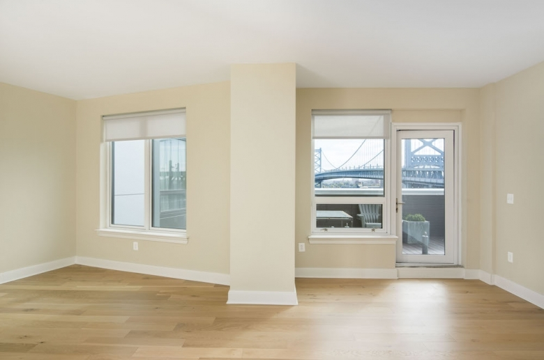 Private balcony and bi-level unit at One Water Street