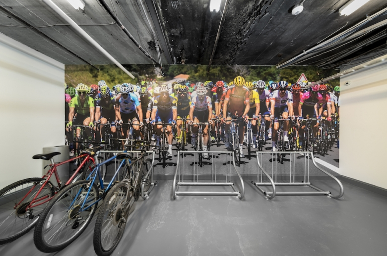 Resident bike room storage