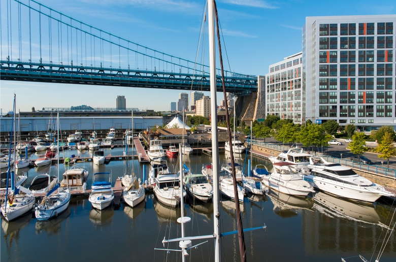 Ideally located on the Delaware River waterfront