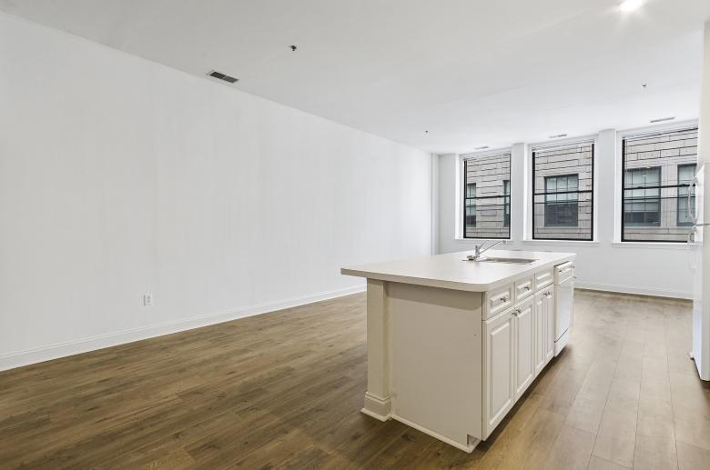 Wooden floor kitchen