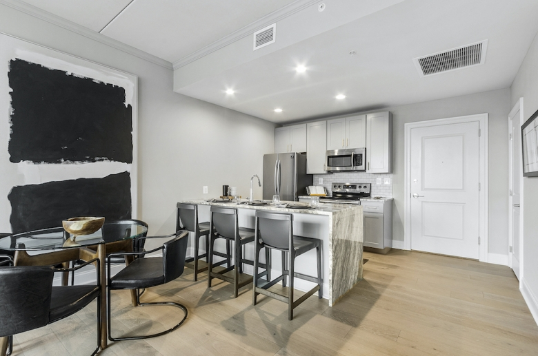 Allegheny Apartments open concept kitchen