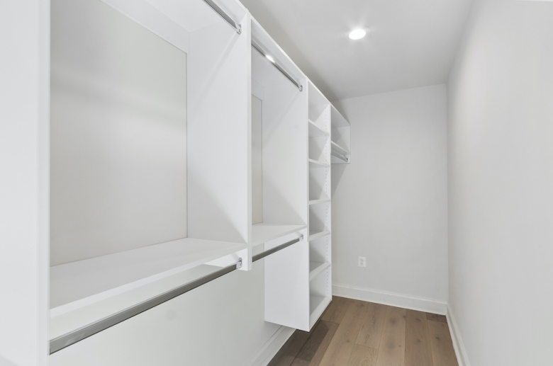 Riverwalk walk-in closet with shelving system