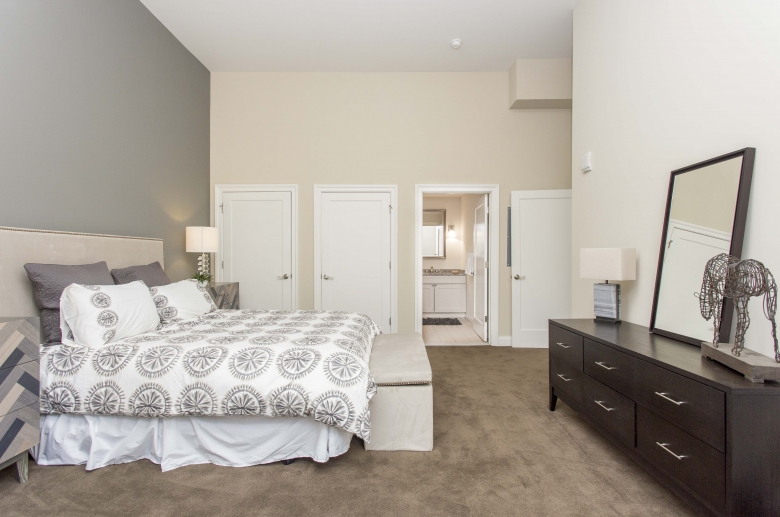 2100 Parkway bedroom with attached bathroom