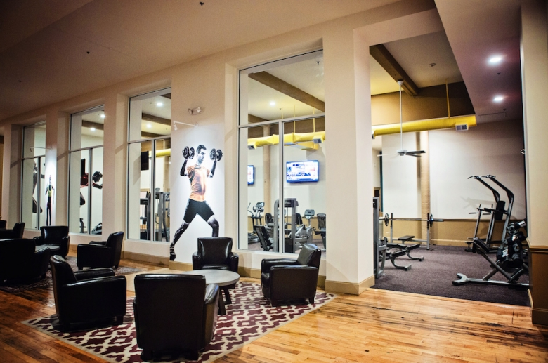Lounge and fitness center