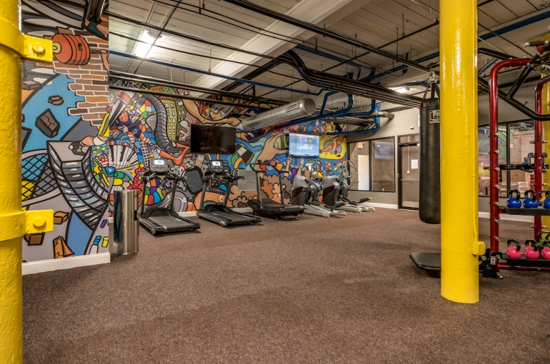 State-of-the-art fitness center with complimentary classes