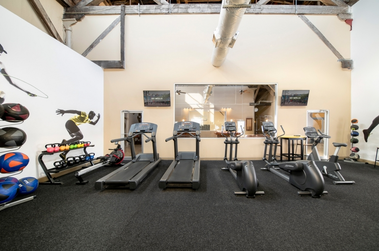 treadmills in the new gym