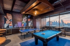 Roof deck billiard and ping-pong area