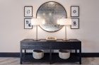 A hairdresser with minimalist decoration at 757 North Apartment lounge