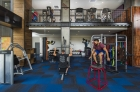 A closer look to the fitness center that includes a 4-bike Peloton Cycle® Studio