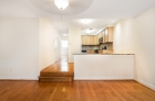 Tiered living and kitchen division