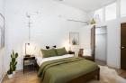 bedroom with unique architectural details