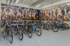 Bike room with parking slots at Residence on the Green