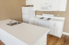 Kitchen island with stainless steel sink