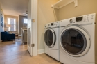 Laundry room with washer and dryer unit